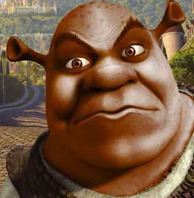 I found the Black Shrek.