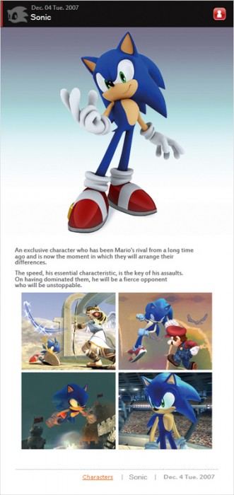 sonic may be in brawl (