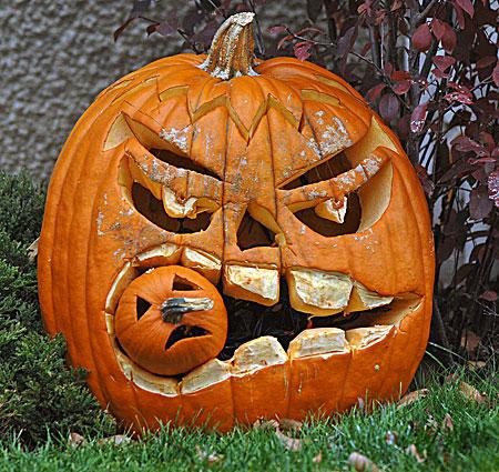 Funny Jack O' Lanterns.