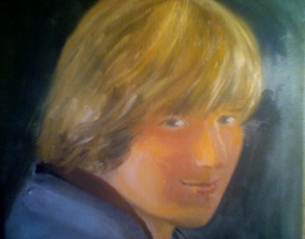 My mom drew a creepy painting of me