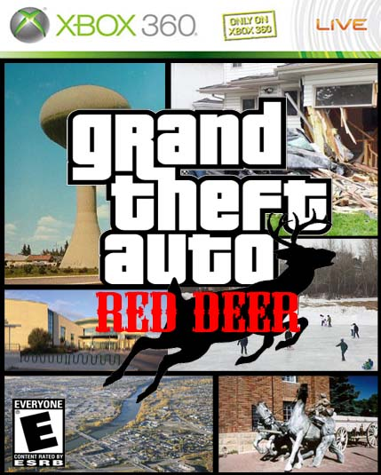 Its funny, because Red Deer needed its own video game! Photoshop Fake Games