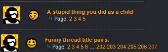 Funny thread title pairs.