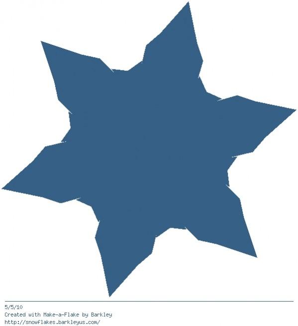 Make a virtual snowflake. Awesome.