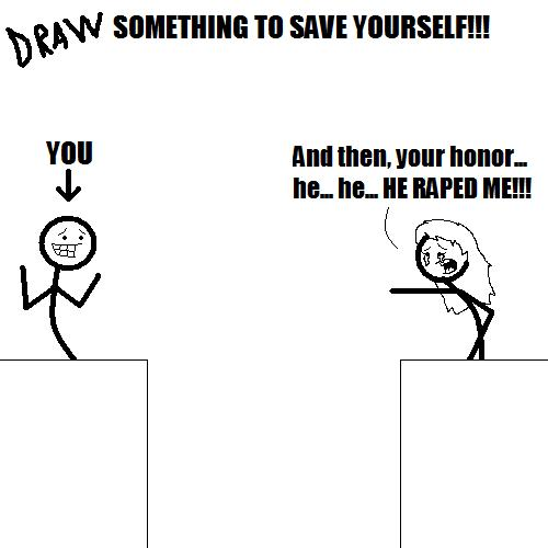 Draw something to save yourself!