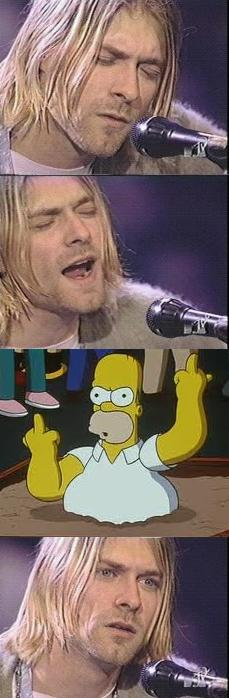 Photoshop Kurt Cobain's reaction