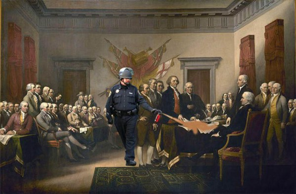 Photoshop Pepper Spray Cop