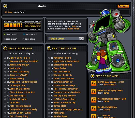 Newgrounds Time Capsule 2012