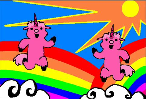 Pink Fluffy Unicorns dancing on-