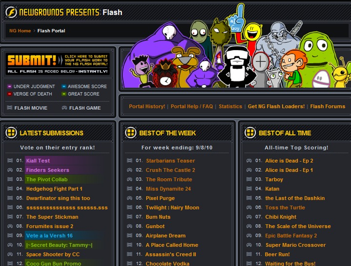 I like the old Newgrounds Better.