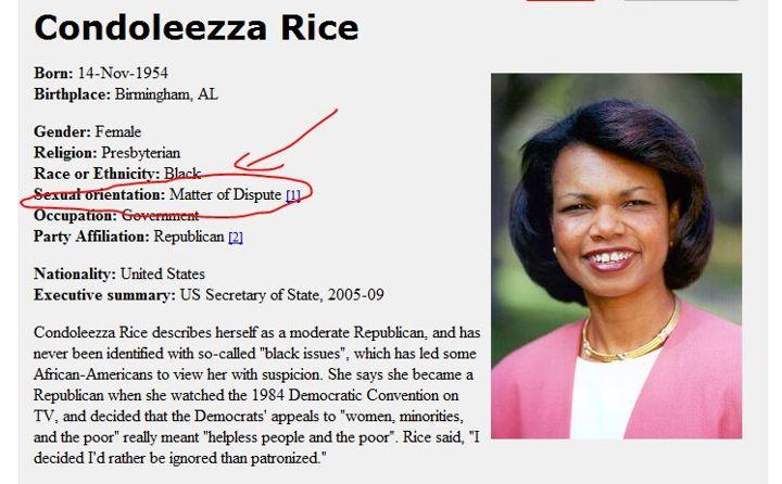 Image result for condoleezza rice lesbian