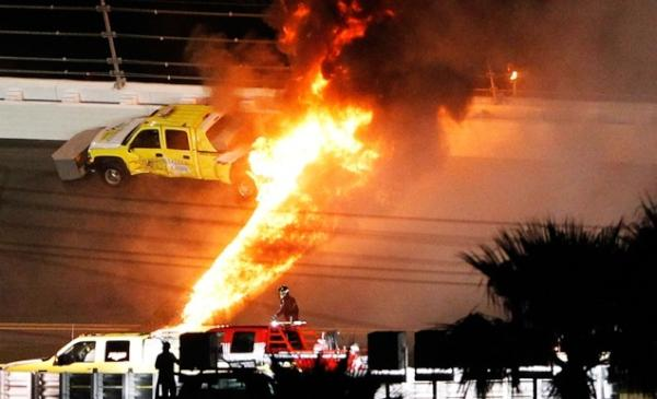 Daytona on fire!