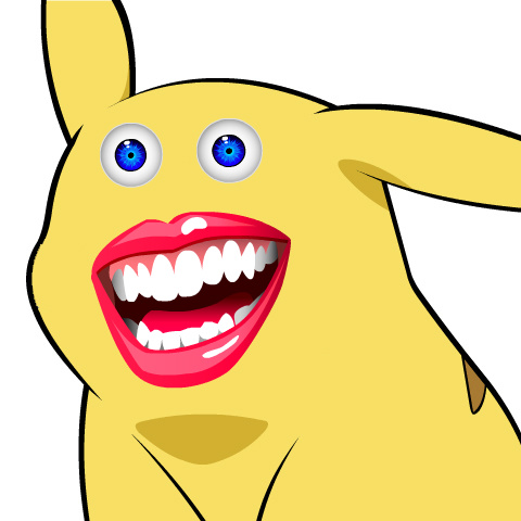 Give pikachu a face.