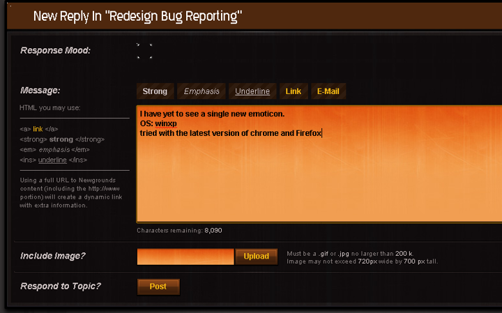 Redesign Bug Reporting
