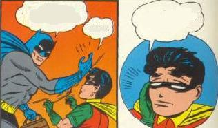 Why is Batman smacking Robin?