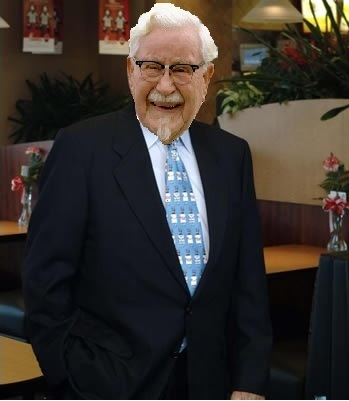 Photoshop Chick fil founder