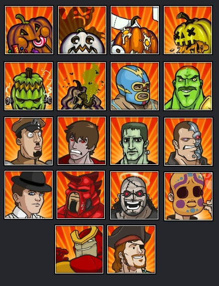 Halloween level icons