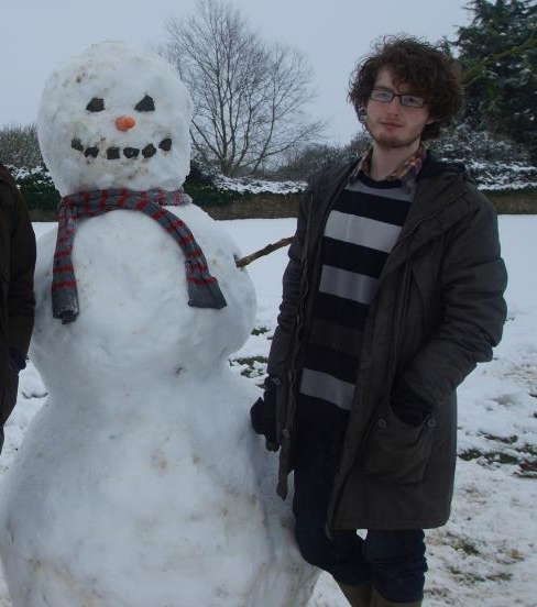 It's snowing here in England!