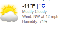It is 13 degrees.