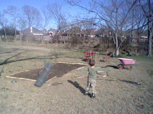 Making a outside garden.
