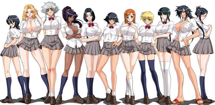 Naruto And Bleach Girls