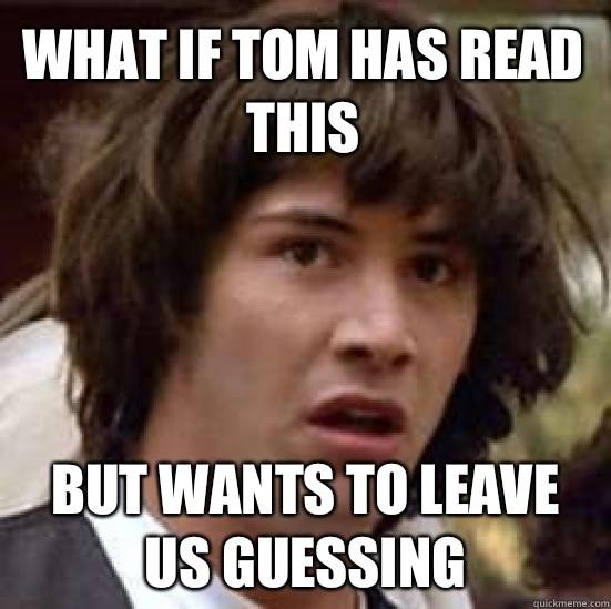 Tom's Favorite Sex Position.