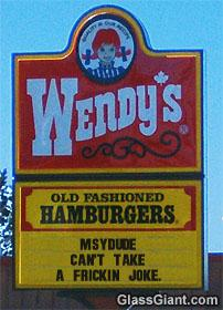 Wendy's resturant advertises NG!