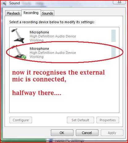external mic doesnt work on laptop