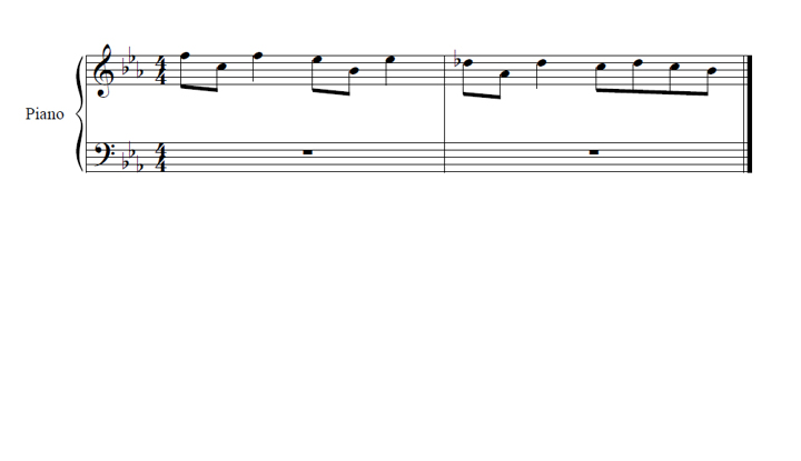 Piano notes request