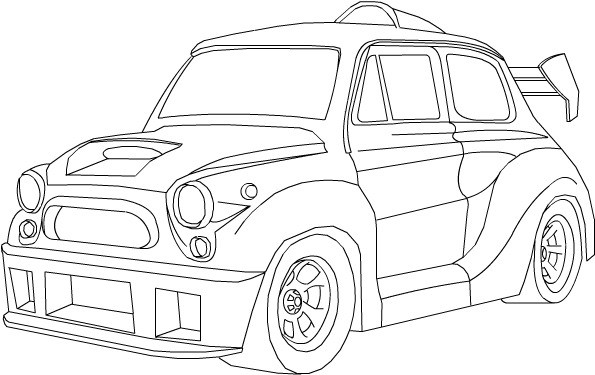 mini cooper panel coloring pages - photo#16