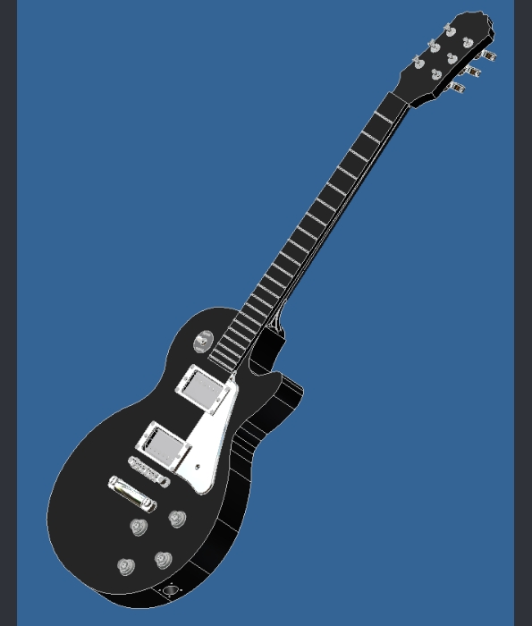 Guitar: Full 3d Model