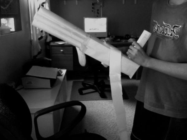 Paper made guns.
