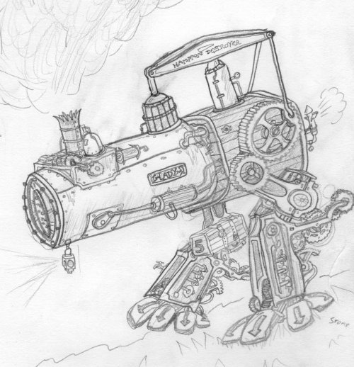 Steam powered mech/robots