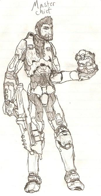 Master chief without a helmet
