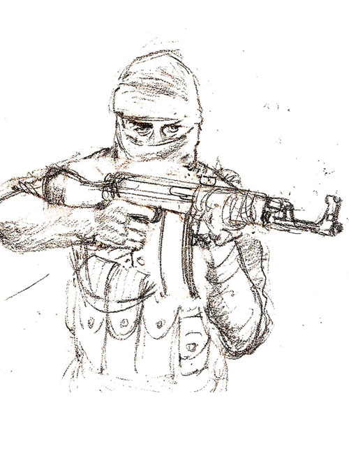 Ak 47 Weapon Colouring Pages