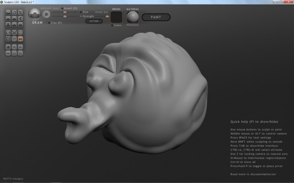 Sculptris Free 3d Model Creator