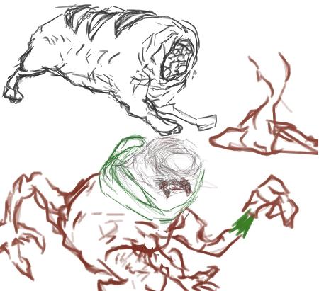 Post-flea's Trash bin