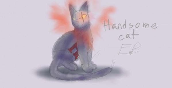 handsomecat self-portrait collab