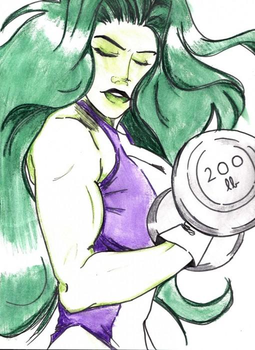 Hulk Chibi Hulk Chibi Lifting She Hulk