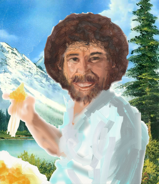Draw Bob Ross