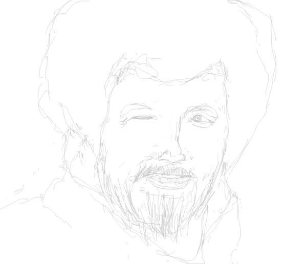 Draw Bob Ross
