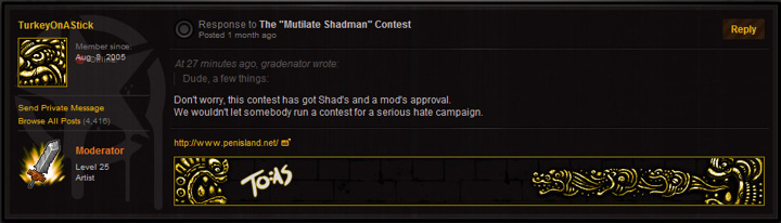 "The ""Mutilate Shadman"" Contest"