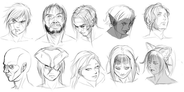 Sahariel's Character Doodles