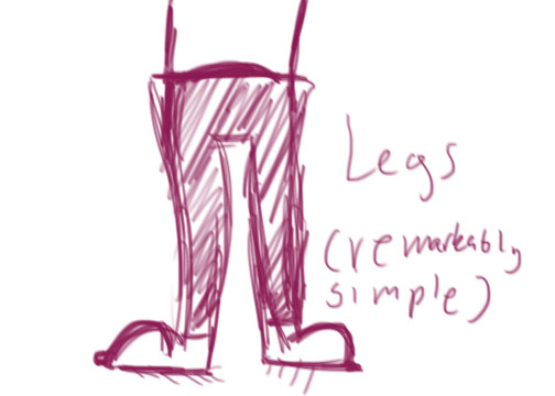 Help with art-related legs?