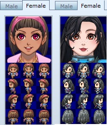 RPG maker Character portraits