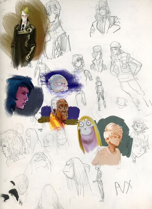 Sketchbook drawings and colorings