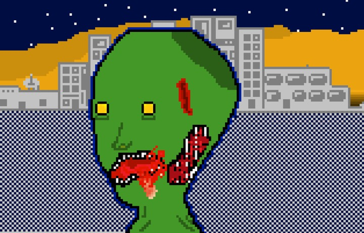Pixel Based Zombie Art