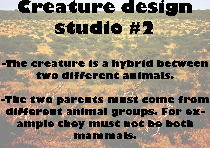 Creature Design Studio week#2