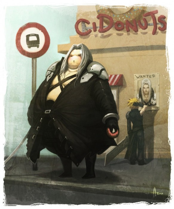 Fat Video Game Character Parodies.