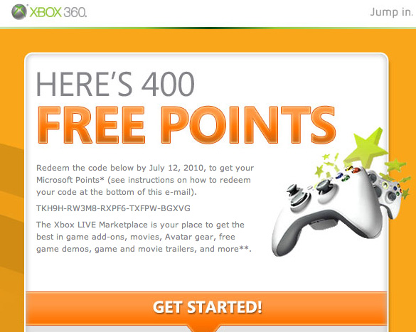 Ms Gives Away Free Points
