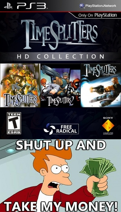 time splitters HD & 4 petition
